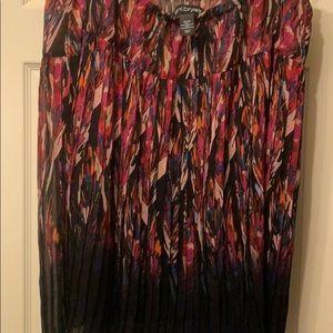 Lane Bryant skirt with pleats all around.